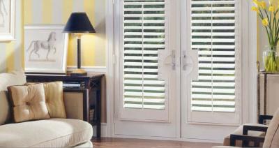 living room door shutters