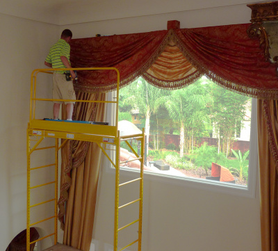 Installing Majestic Cascading Swags & Draperies