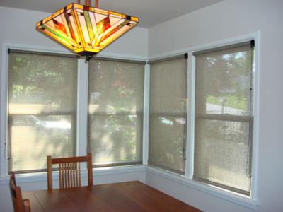 solar shades in dining room