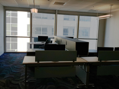 office with roller shades