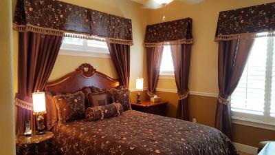 custom bedroom drapery