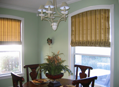 unique dining room roman shades